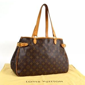 Auth Louis Vuitton Batignolles Horizontal Bag